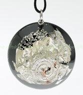 orgone-giftshop~eigentijdse zilveren hanger